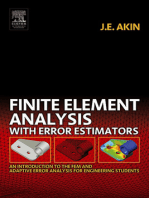 Finite Element Analysis with Error Estimators: An Introduction to the FEM and Adaptive Error Analysis for Engineering Students