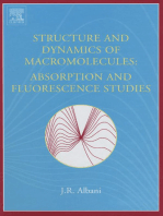 Structure and Dynamics of Macromolecules