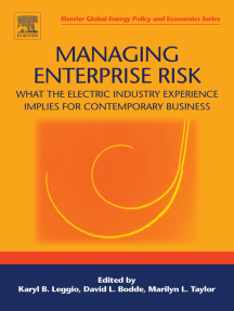 Managing Enterprise Risk: What the Electric Industry Experience Implies for Contemporary Business