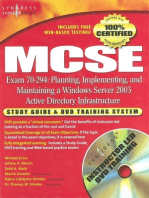 MCSE Planning, Implementing, and Maintaining a Microsoft Windows Server 2003 Active Directory Infrastructure (Exam 70-294)