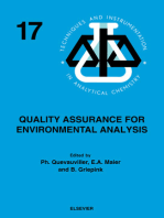 Quality Assurance for Environmental Analysis: Method Evaluation within the Measurements and Testing Programme (BCR)