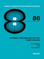 Thermal Decomposition of Ionic Solids