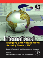 International Mergers and Acquisitions Activity Since 1990