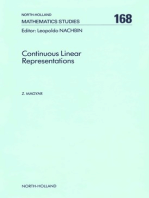 Continuous Linear Representations