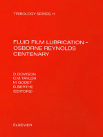 Fluid Film Lubrication - Osborne Reynolds Centenary: FLUID FILM LUBRICATION - OSBORNE REY