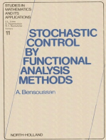 Stochastic Control by Functional Analysis Methods