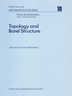 Topology and Borel Structure
