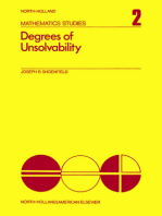 Degrees of Unsolvability