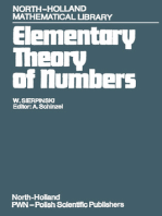 Elementary Theory of Numbers: Second English Edition (edited by A. Schinzel)