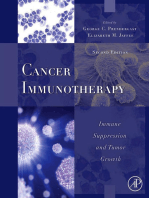 Cancer Immunotherapy: Immune Suppression and Tumor Growth