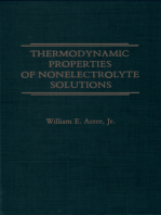 Thermodynamic Properties of Nonelectrolyte Solutions