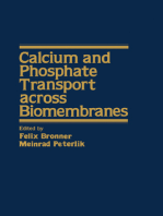 Calcium and Phosphate Transport Across Biomembranes