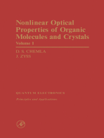 Nonlinear Optical Properties of Organic Molecules and Crystals V1