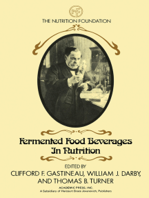 Fermented Food Beverages in Nutrition