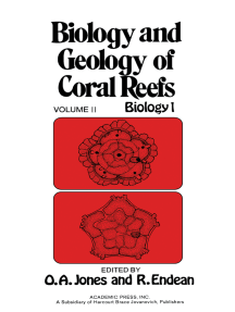 Biology and Geology of Coral Reefs V2: Biology 1