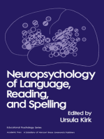 Neuropsychology of Language, Reading and Spelling