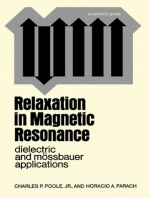 Relaxation in Magnetic Resonance