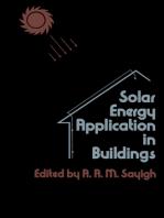 Solar Energy Application in Buildings