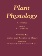 Plant Physiology 9: A Treatise: Water and Solutes in Plants