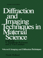 Diffraction and Imaging Techniques in Material Science P2: Imaging and Diffraction Techniques