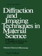 Diffraction and Imaging Techniques in Material Science P1: Electron Microscopy