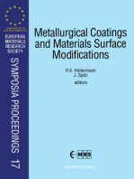 Metallurgical Coatings and Materials Surface Modifications
