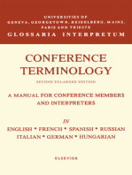 Conference Terminology: In English, French, Spanish, Russian, Italian, German and Hungarian
