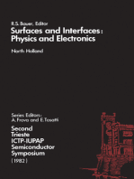 Surfaces and Interfaces: Physics and Electronics