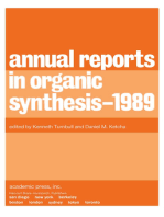 Annual Reports in Organic Synthesis — 1989