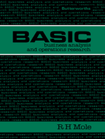Basic Business Analysis and Operations Research