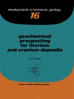 Geochemical Prospecting for Thorium and Uranium Deposits