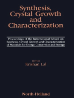 Synthesis, Crystal Growth and Characterization