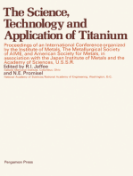 The Science, Technology and Application of Titanium
