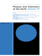 Physics and Chemistry of the Earth: Progress Series, Volume 6