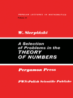 A Selection of Problems in the Theory of Numbers: Popular Lectures in Mathematics