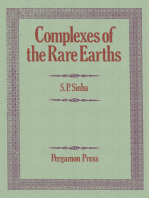 Complexes of the Rare Earths