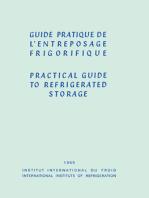 Guide Pratique de l'Entreposage Frigorifique: Practical Guide to Refrigerated Storage