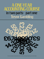 A One-Year Accounting Course: Part 1