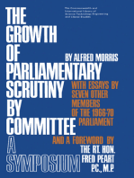 The Growth of Parliamentary Scrutiny by Committee: A Symposium