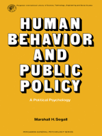Human Behavior and Public Policy