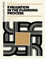 Evaluation in the Planning Process