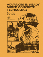 Advances in Ready Mixed Concrete Technology: Proceedings of the First International Conference on Ready-Mixed Concrete Held at Dundee University, 29th September – 1st October 1975