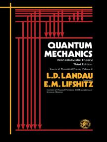 Quantum Mechanics: Non-Relativistic Theory