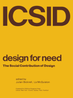 Design for Need, The Social Contribution of Design: An anthology of papers presented to the Symposium at the Royal College of Art, London, April 1976