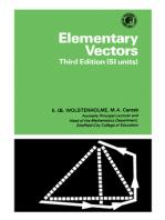 Elementary Vectors