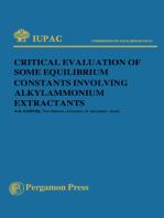 Critical Evaluation of Some Equilibrium Constants Involving Alkylammonium Extractants