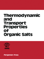 Thermodynamic and Transport Properties of Organic Salts