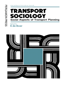 Transport Sociology: Social Aspects of Transport Planning