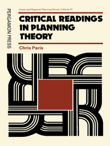 Critical Readings in Planning Theory: Urban and Regional Planning Series