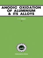 Anodic Oxidation of Aluminium and Its Alloys: The Pergamon Materials Engineering Practice Series